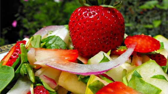 Photo of Spring Strawberry Spinach Salad by Mona