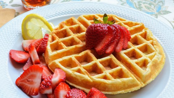 Photo of Lemon-Ricotta Cornmeal Waffles by Kim's Cooking Now
