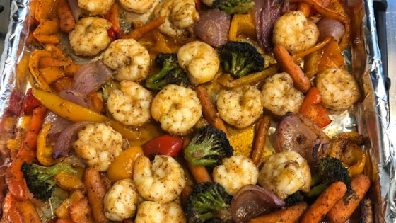 Photo of Shrimp and Vegetable Sheet Pan Dinner by Amy Schenkel