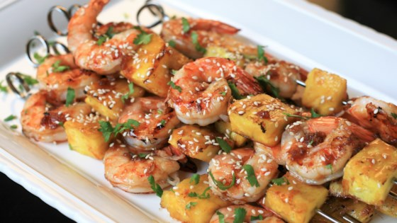 Photo of Grilled Teriyaki Shrimp and Pineapple Skewers by France C