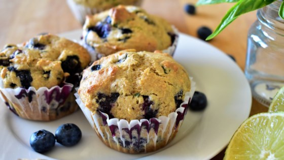 Photo of Blueberry, Lime, and Basil Muffins by Kim