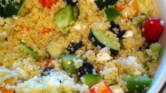 Photo of Party-Size Greek Couscous Salad by Saveur
