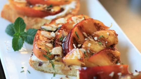 Photo of Grilled Honey-Nectarine Ricotta Toast by France C