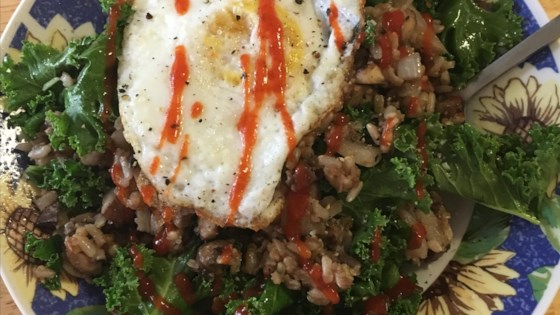 Photo of Breakfast Fried Rice with Kale and Egg by Laura Donahue