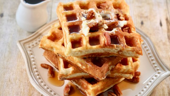 Photo of Pecan-Ricotta Waffles by lutzflcat