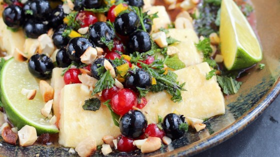 Photo of Grilled Halloumi with Herbed Berry Salsa by Buckwheat Queen