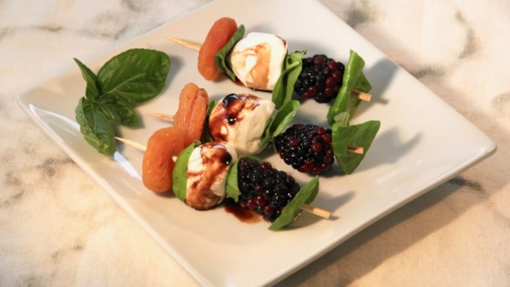 Photo of Blackberry-Basil Skewers by lutzflcat