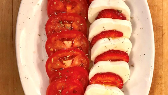 Photo of Strawberry-Tomato Caprese Salad by Carol Castellucci Miller