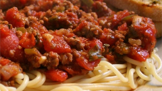 Photo of Lots O'Veggies Sausage Spaghetti Sauce by Debra Steward