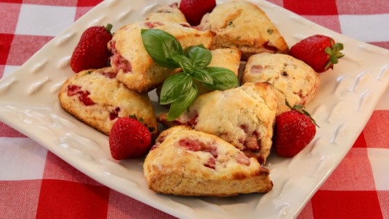 Photo of Strawberry and Basil Scones by lutzflcat
