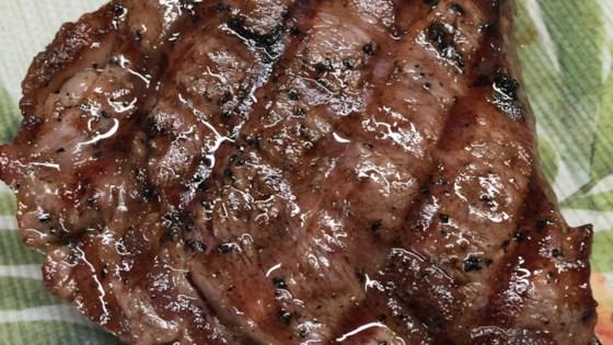 Photo of Salt and Pepper Ribeye Steak by Diamond Crystal Salt