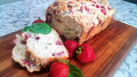 Photo of Strawberry Beer Bread with Fresh Basil by Tammy Lynn