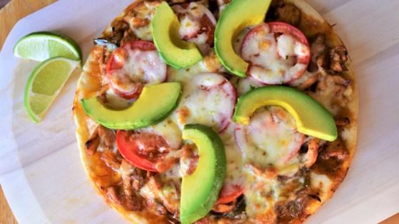 Photo of Chicken Fajita Cauliflower Pizza by Kim