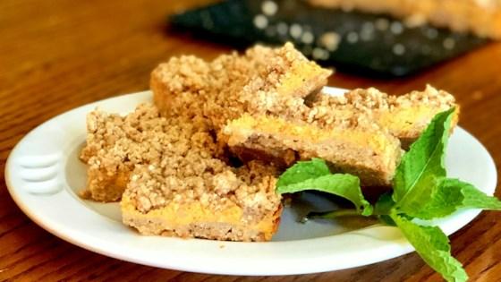 Pumpkin Cheesecake Streusel Bars Recipe - Allrecipes.com