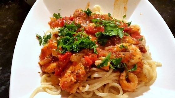 Photo of Shrimp Spaghetti with Tomato Sauce by Socratic Food