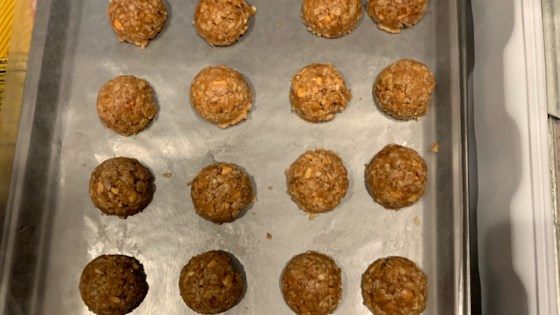 Photo of No-Bake Peanut Butter-Oatmeal Lactation Cookies  by Kristy Madsen