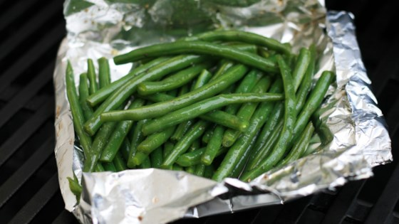 Photo of Foil-Pouch Grilled Green Beans  by Nathan Shobe