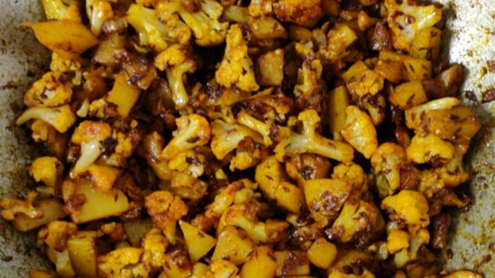 Photo of Cauliflower and Potato Stir-Fry - East Indian Recipe by sugarFiend