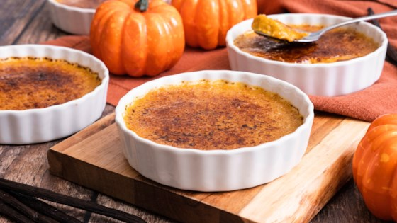 Photo of Reduced-Sugar Pumpkin Creme Brulee by In The Raw