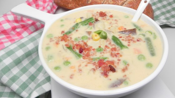 Photo of Cheesy Slow Cooker Potato Soup by emberlynn