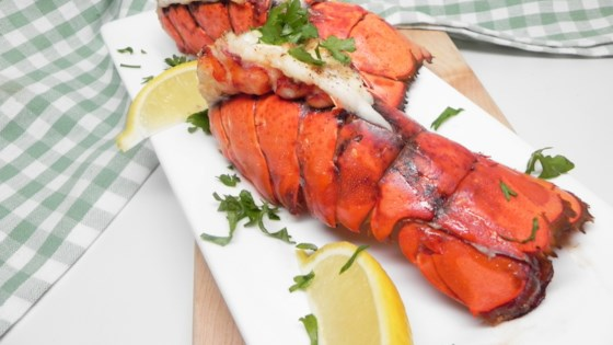 Photo of Air Fryer Lobster Tails with Lemon-Garlic Butter by Allrecipes