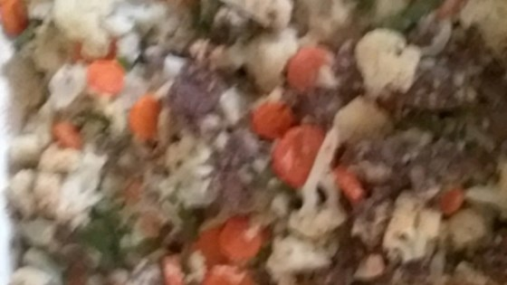Photo of Cauliflower Hamburger Casserole by Marla
