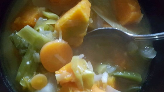 Photo of Vegan Japanese Winter Squash and Leek Soup by KN Granger