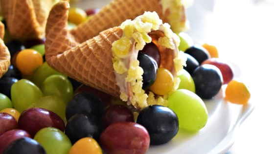 Photo of Easy Sugar Cone Cornucopias by Kim