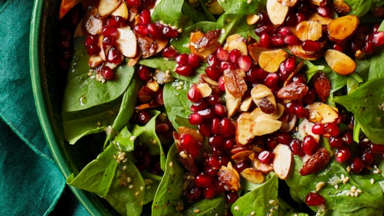 Photo of Pomegranate Spinach Salad by Allrecipes Magazine