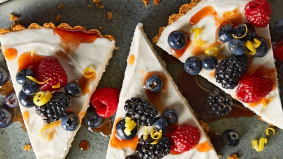 Photo of No-Bake Greek Yogurt Cheesecake by Ashley Baron Rodriguez