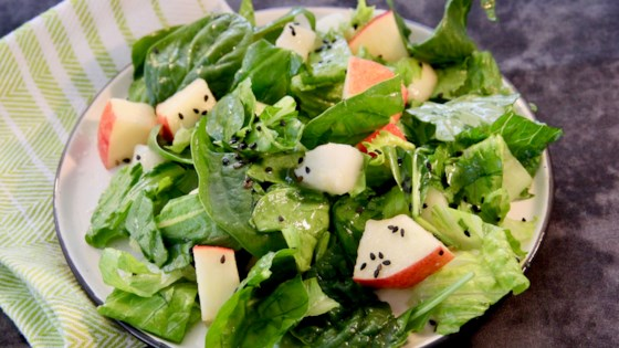Photo of Autumn Salad with Caramel-Sesame Dressing by chefsazy