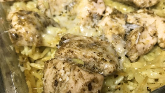 Photo of Pesto Chicken and Rice Bake by thedailygourmet