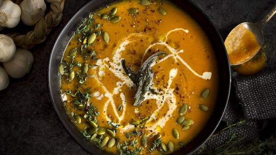 Photo of Sweet Vegan Butternut Squash Soup by Happy as a Yam