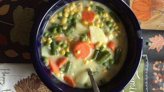 Photo of Cheesy Vegetable Chowder  by CANDICEC56