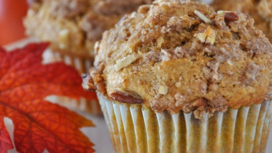Photo of Whole Wheat Pumpkin-Applesauce Muffins by Julie