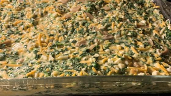 Photo of Spinach and Mushroom Egg Casserole by Karen Hibbert