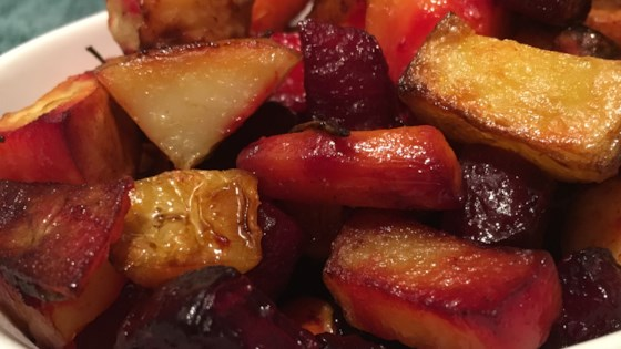 Photo of Root Vegetables with Balsamic Glaze by kathy