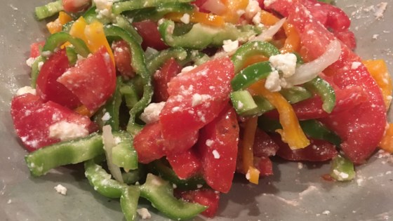 Photo of Bell Pepper, Tomato, and Feta Salad by barbara