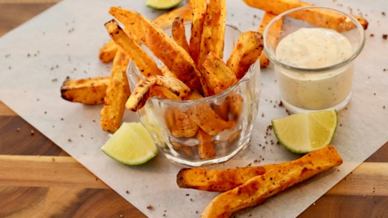 Photo of Air Fryer Tajin® Sweet Potato Fries by lutzflcat