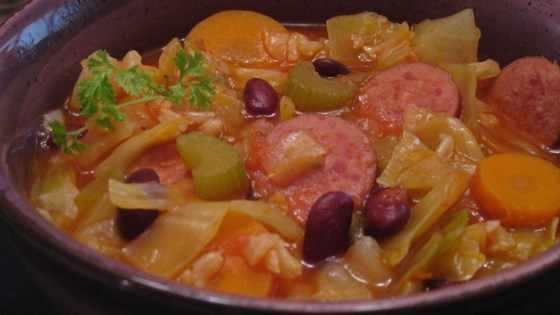 Photo of Cabbage and Smoked Sausage Soup by Ludy Brinck