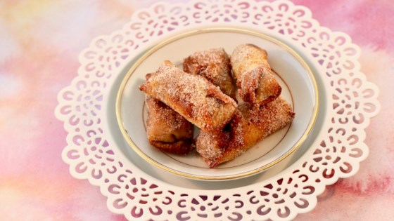 Photo of Air-Fried Double Cherry Mini Egg Rolls by Allrecipes