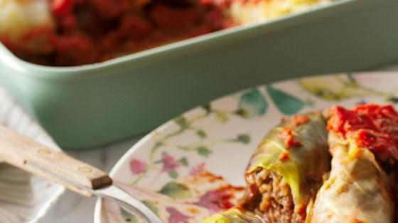 Vegan Mushroom-Stuffed Cabbage Rolls Recipe
