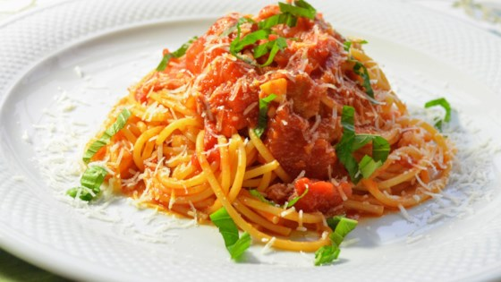 Photo of Enzo's Spaghetti all'Amatriciana by Kim's Cooking Now