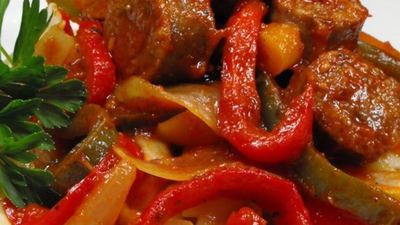 Photo of Easy Sausage, Peppers and Onions with Elbows by Kori Lavertue