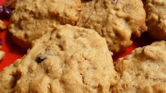 Photo of Cranberry-Nut Oatmeal Cookies by KATSINTHEKITCHEN