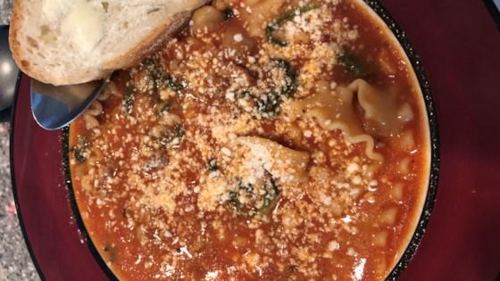 Cheesy Sausage Lasagna Soup Recipe