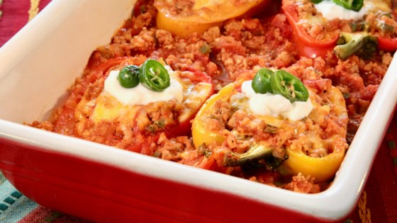 low carb turkey stuffed peppers review by casey