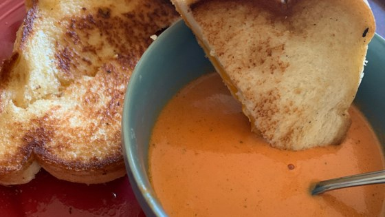 Photo of Rich and Creamy Tomato Basil Soup by MARBALET