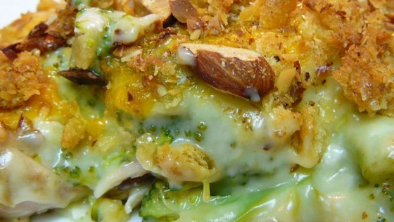 Baked Chicken Amandine