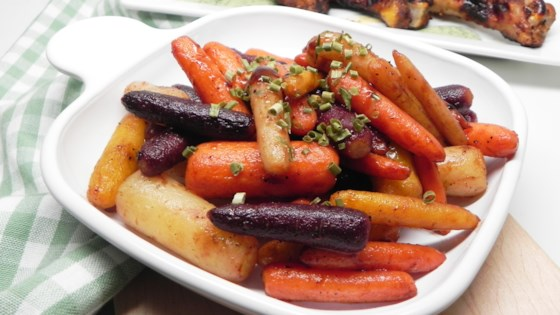 Photo of Air-Fried Carrots with Balsamic Glaze by Allrecipes